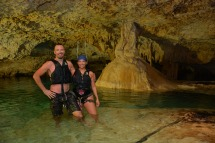 Cave swimming!
