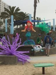 Roller skated in Venice Beach.