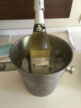 Champagne for our anniversary!