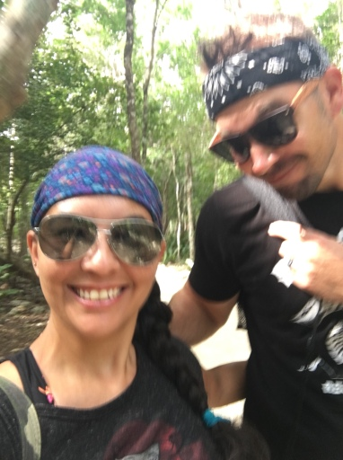 Today is our ruins, cenote, zip lining excursion.
